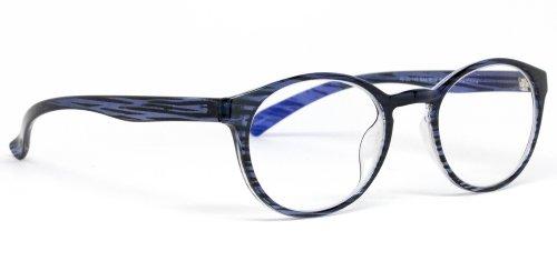 Protective Computer Glasses by Phonetic Eyewear Alpha (Ocean Stripe) (Alpha Stripe)
