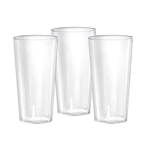 Party Essentials N302021 20 Count Hard Plastic Beer Flight Tasting Glasses, 3 oz, Clear