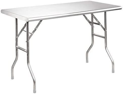 Royal Gourmet Stainless Steel Folding Work Table, 48 L x 24 W