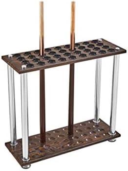 HSBAIS プロンプトのみ、木 キューラックフロアスタンド 収容可能 16 穴 プールの手がかり プールキューラック インストールが簡単,A