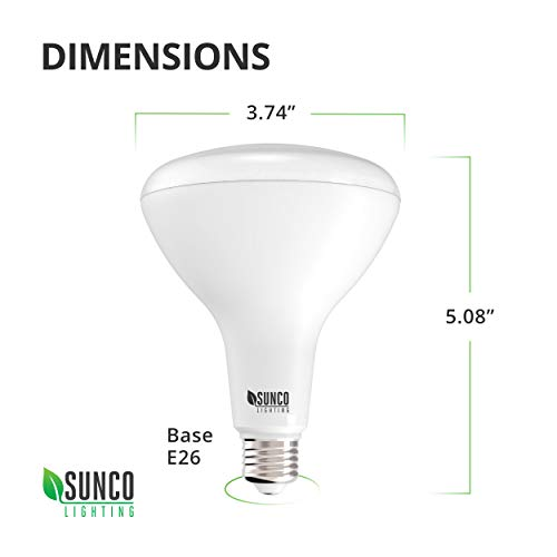 Sunco Lighting 32 Pack BR30 LED Bulb 11W=65W, 5000K Daylight, 850 LM, E26 Base, Dimmable, Indoor/Outdoor Flood Light - UL & Energy Star by Sunco Lighting (Image #2)