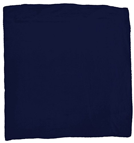 Wyoming Traders Mens Solid Silk Wild Rag Scarf Navy