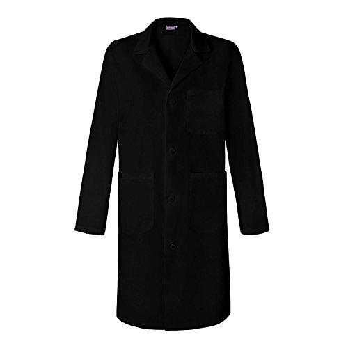 Sivvan Unisex 39 inch Lab Coat - Back Pleated - S8802 - Black - M by Sivvan