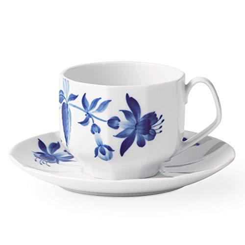 Royal Copenhagen Blomst Teacup & Saucer Fuchsia 7.5oz