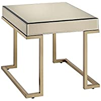 ACME Furniture 81637 Boice End Table, Smoky Mirror & Champagne