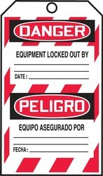Accuform TMS240FTP Safety Tags Safety DANGER DO NOT OPERATE (LOCK OUT TAG) (ENGLISH/SPANISH-MEXICAN) RS-Flexcard 25PK by Accuform