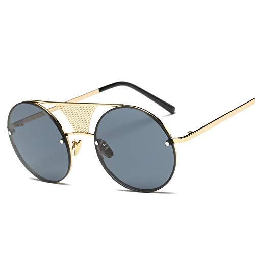 Protection Qualité Sports 100 Loisirs Rétro UV Femme Goggle Cadre 9 Homme Soleil Lunettes Couleurs ZHRUIY A9 Round Alliage De Haute 8Z7qpwWF