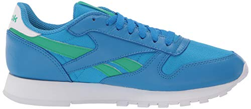 Reebok unisex-adult Classic Leather,Horizon Blue/Court green/White,7.5 M US