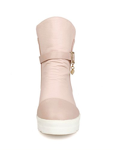 Cn43 Blanco Rosa 5 5 Eu42 us10 us10 Xzz Zapatos Mujer De Uk8 5 White Casual Punta Pink Redonda Botas Semicuero Plataforma wpvTAxqwz