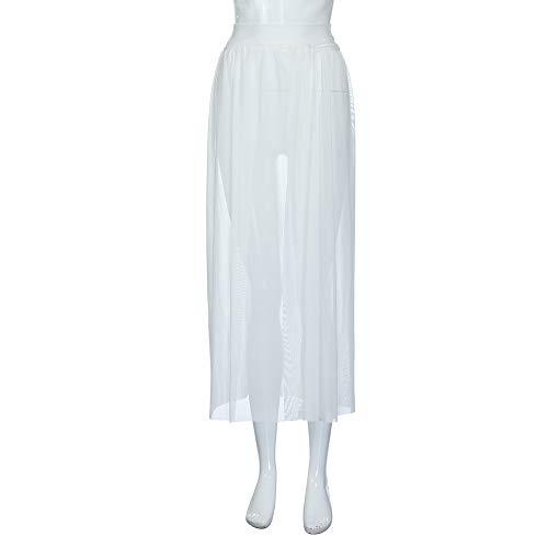 Falda Larga de Mujer Casual Falda de Playa de Moda Falda de Playa ...