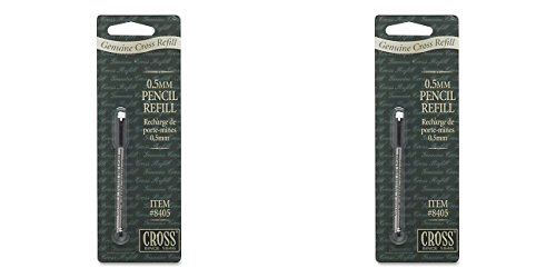 Cross Pencil Lead & Eraser, One Refill with 12 Leads and Eraser., 2 Packs