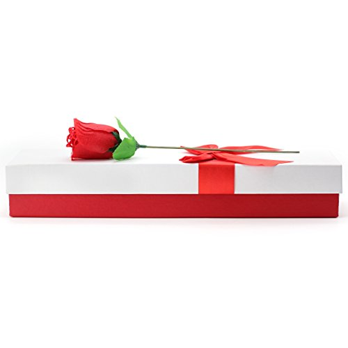 2017 Novelty Valentines Gift For Her 2 Sexy T-back Rose Flower Underwears In a Fancy Gift Box Plus Valentine Card For Valentines Day or Special Occasion - Say I Love You With This