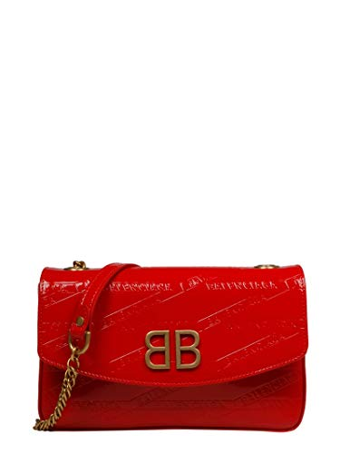 Balenciaga Women's 5266820Zx146541 Red Leather Shoulder Bag