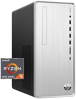 HP Pavilion Desktop PC, AMD Ryzen 5 4600G Processor 6-core with Radeon Graphics, 12 GB DDR4-3200 SDRAM, 512 GB HD – Windows 10 Home, Multi-Display Capable, 5.1 Surround Sound (TP01-1140)
