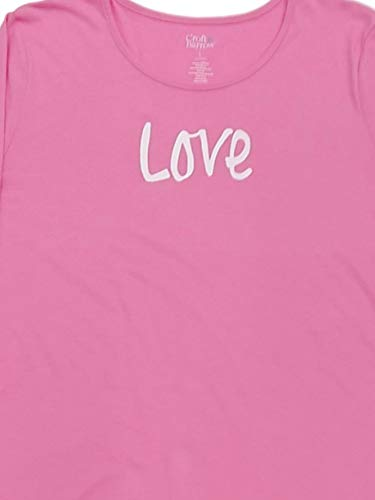 Womens Pink Love Sleeve Love Sleepshirt Nightgown Sleep Shirt Gown Medium