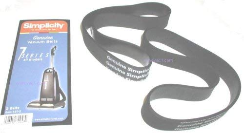 Genuine Riccar Vacuum Cleaner Belts 2 pk.  Fits 2000, 4000, and 8000 Series Uprights.  (May Fit Some Simplicity Models)