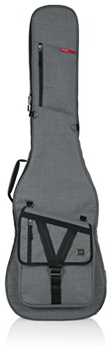 Gator Cases Transit Series Bass Guitar Gig Bag; Light Grey Exterior (GT-BASS-GRY) by Gator