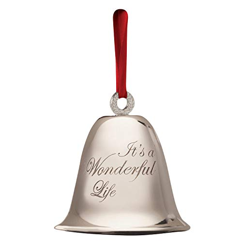 BEVIN BELLS It's A Wonderful Life Christmas Bell Authentic Silver-Plated Ornament