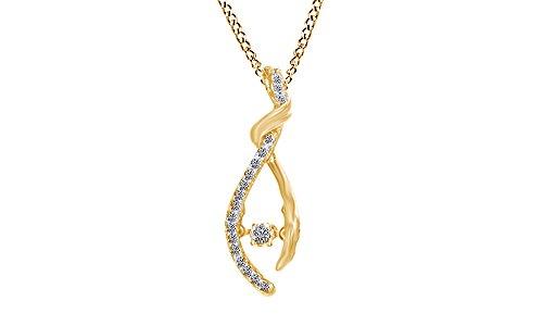 Yellow Gold Diamond Wishbone - 8