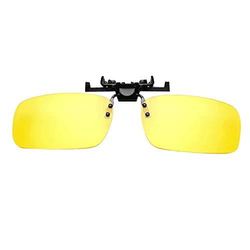 iNoDoZ 1Pc Polarized Clip-on Sunglasses Unisex Flip Up Over Prescription Glasses Driving Thin and Light