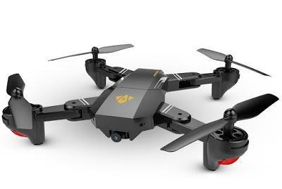 Visuo Foldable DRONE With HD Camera VR Compatible FPV Micro SD Memory Slot