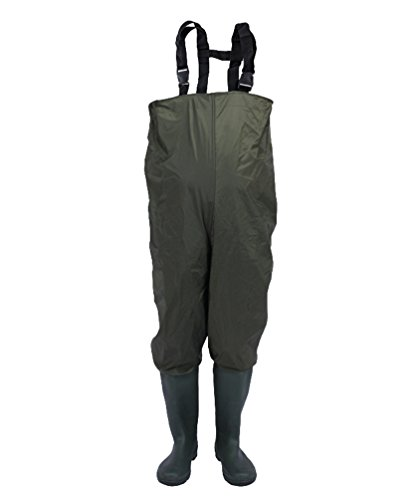 Unisex Yiiquan Fino Salopette Verde Al Per In Torace Pantaloni Impermeabili Pescatori Lavoro Standard Pvc drRvrwq