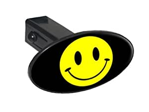 """Smile Smiley Face - 1 1/4 inch (1.25"""") Tow Trailer Hitch Cover Plug Insert"""