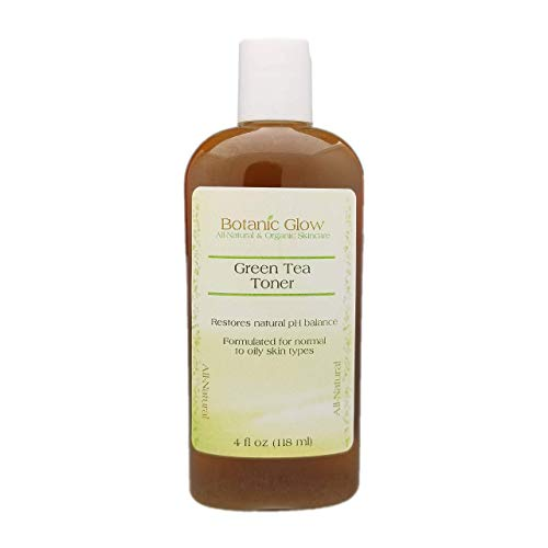 Green Tea Face Toner 4 oz for Acne Oily Skin, Antibacterial Alcohol Free Acne Facial Toner, All Natural and Organic