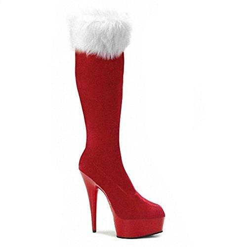 Navidad Piel 35 Rojo Super Botas Guantes 5 Potencia Noche pl heels SCH 3 ¨ Dance Club ¹ larga high Cristal 38 mujeres Negro RwAxE6qa