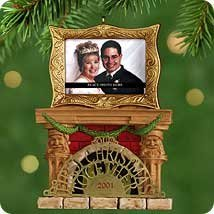 Hallmark - Our First Christmas Together Photo Holder Ornament - 2001
