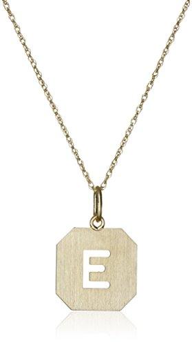 14k Gold-Filled Octagonal Pierced Initial