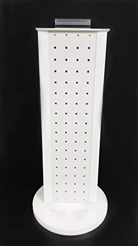 All White 2-sided Revolving Pegboard Countertop Display (19 x 6 1/2 Inches)