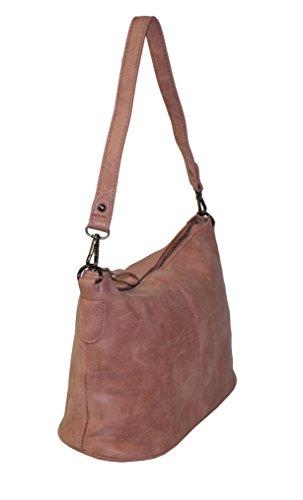 Kleine 2in1 Damen Handtasche mit 2 Tragevarianten puder pink