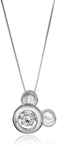 Disney Sterling Floating Zirconia Necklace