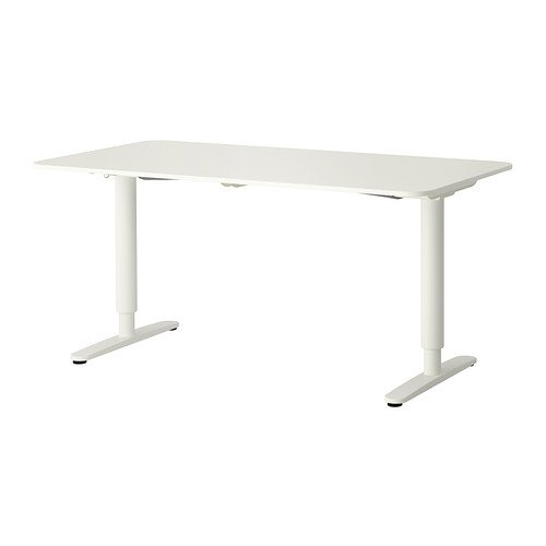 Ikea Bekant Desk Sit/Stand, White by IKEA