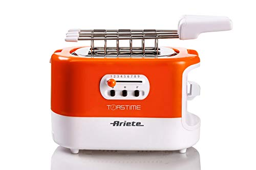 Ariete 159 Toastime, Tostapane 2 fette con pinze, Cassetto raccogli briciole, Funzione scongelamento e riscaldamento, 9… 7