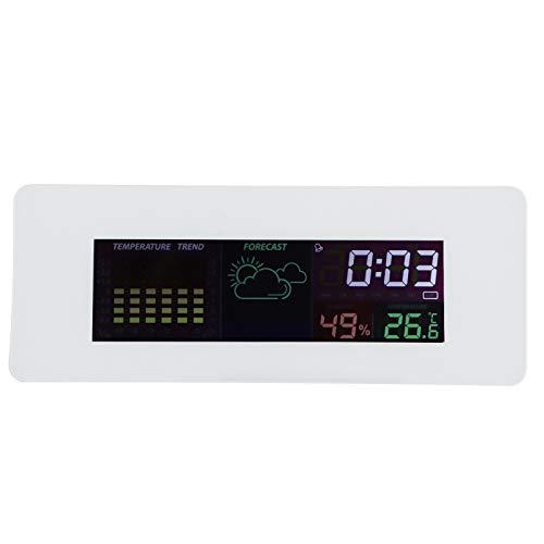 Thermometer-hygrometer, nauwkeurige wekker voor de woonkamer in de huiskamer