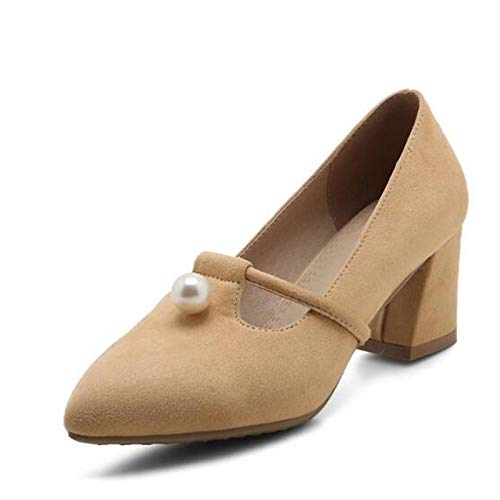 Heels Chunky Gray Comfort Shoes Heel Women'S Spring Almond Black Almond QOIQNLSN Pu Polyurethane 60YqZ0w