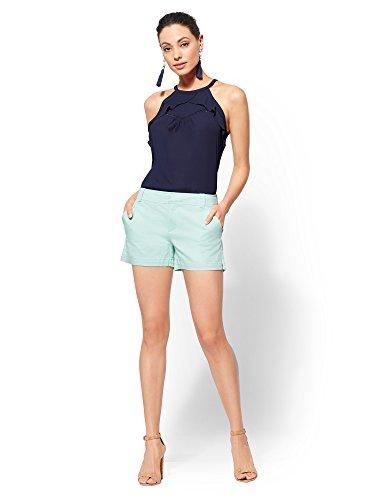 New York & Co. Soho Jeans - Hampton 4 Inch 4 Crystal Aqua ()