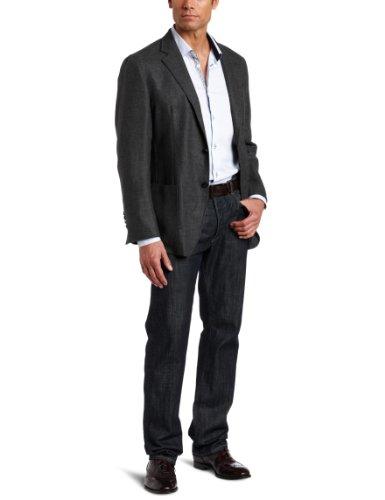 Joseph Abboud Men's Blend Two-Button Side-Vent Soft-Construction Sport Coat