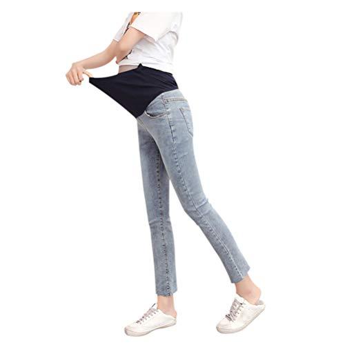 Jean Femmes maternit de Style Maigre Mom Clair Leggings lastiques Bleu Pantalon Meijunter xYpqgaw1n