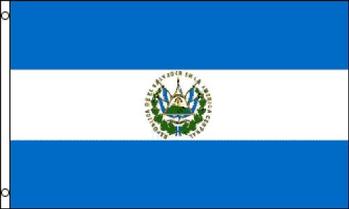 Flag (Premium Quality Polyester), 2' x 3' (El Salvador Emblem)