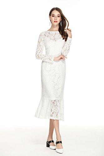 GLOBAL VASION Women's Vintage Maxi Dresses (M, Lace (Vintage Maxi)