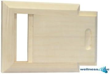 Well Solutions Sauna L/üftungsklappe L/üftungsschieber Rechteck Sauna Abluftschieber