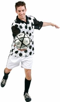 [Adult Soccer Player Costume (Size:Standard)] (Male Football Player Costume)