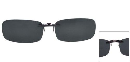 mujer y Gafas Negro Clip hombre de On Anteojos claro polarizado Lentes sol wnOFOx