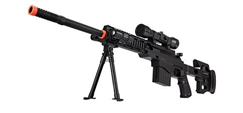 - UKARMS CQB P1402 Spring Airsoft Tactical Sniper Rifle Gun : Folding Stock + Flashlight + Bipod