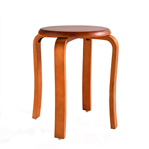 Carl Artbay stool Wooden Stools, Household Stacked Curved Stools, Dining Tables, Dresser, Antiskid and Silent Pads. (Color : ()