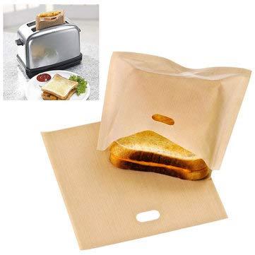 Amazon.com: Bolsa para tostadora reutilizable, antiadherente ...