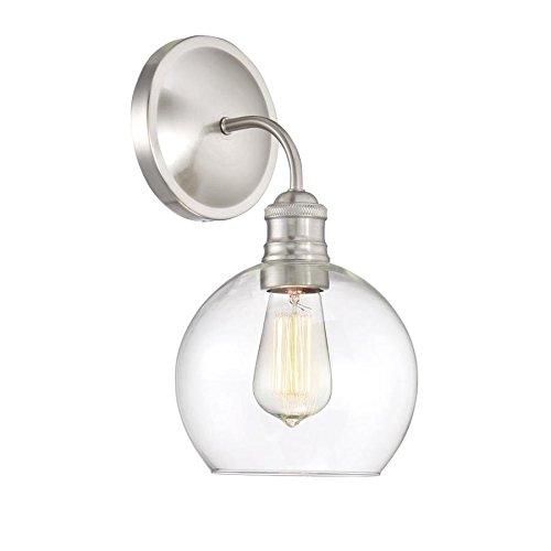 Quoizel Soho 1-Light 12-in Brushed nickel Globe Vanity Light